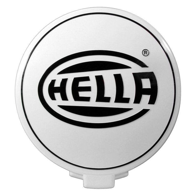 Capa de proteção para farol de milha ou auxiliar Modelo Hella Comet 500 na cor branca  - Bunnitu Peças e Acessórios