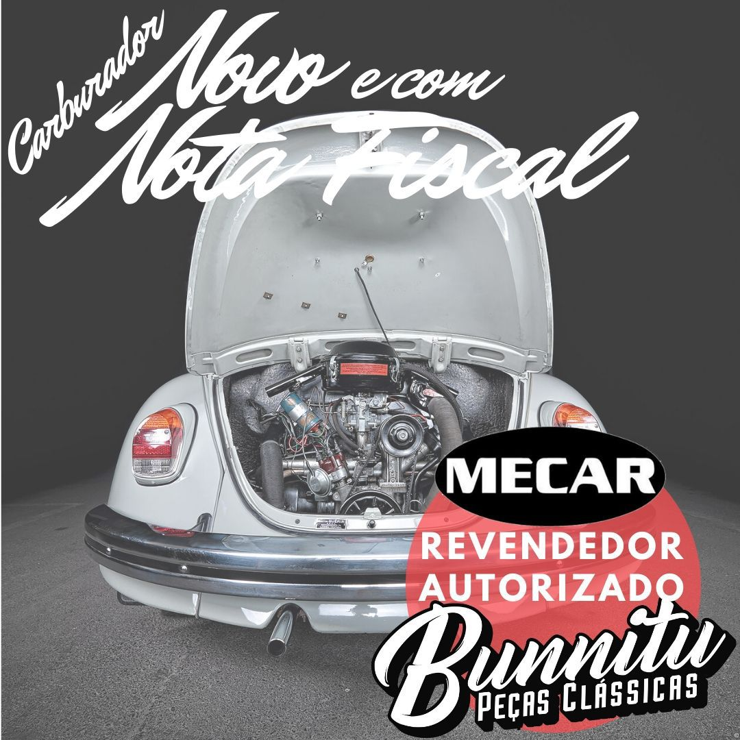 Carburador 30 PIC Motor VW AR 1600 Gasolina Fusca Brasília Kombi Variant Tl TC Puma MP Lafer Bug Gurgel Karmann Ghia  - Bunnitu Peças e Acessórios