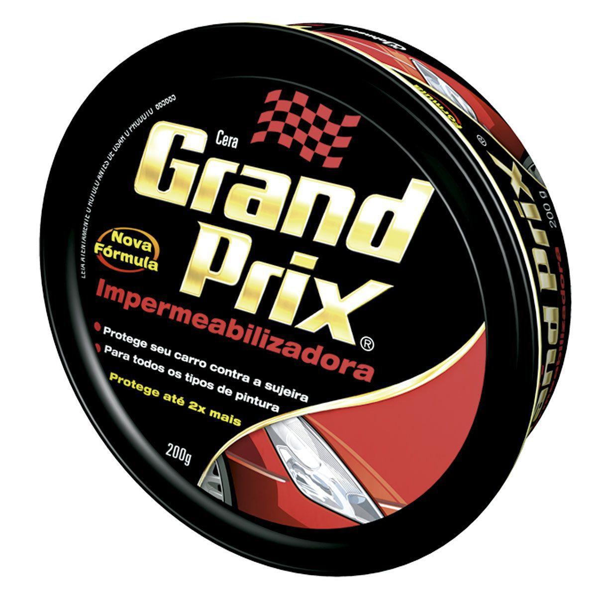 Cera Grand Prix Impermeabilizadora 200G  - Bunnitu Peças e Acessórios