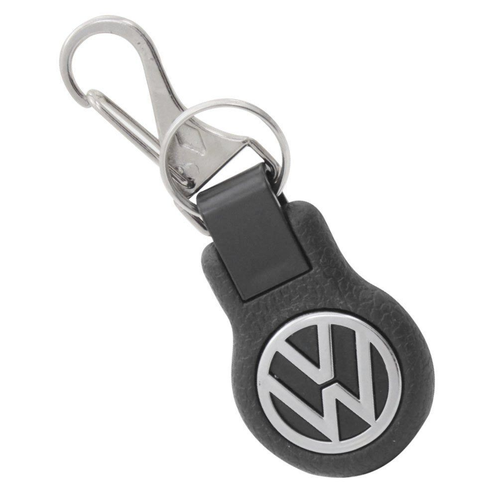 Chaveiro em plástico preto com logo VW cromado  - Bunnitu Peças e Acessórios