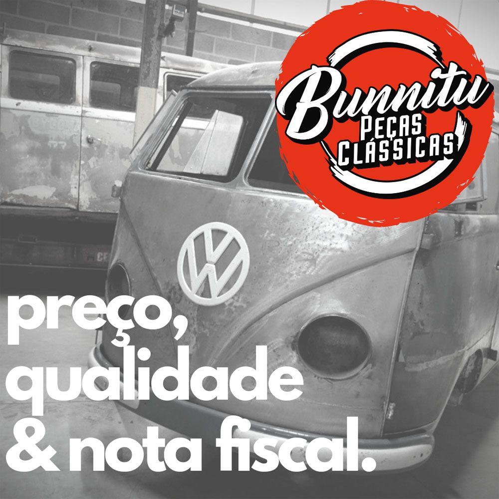 Cinta limitadora e 2 suportes de porta do salão central preta VW Kombi até 1977  - Bunnitu Peças e Acessórios