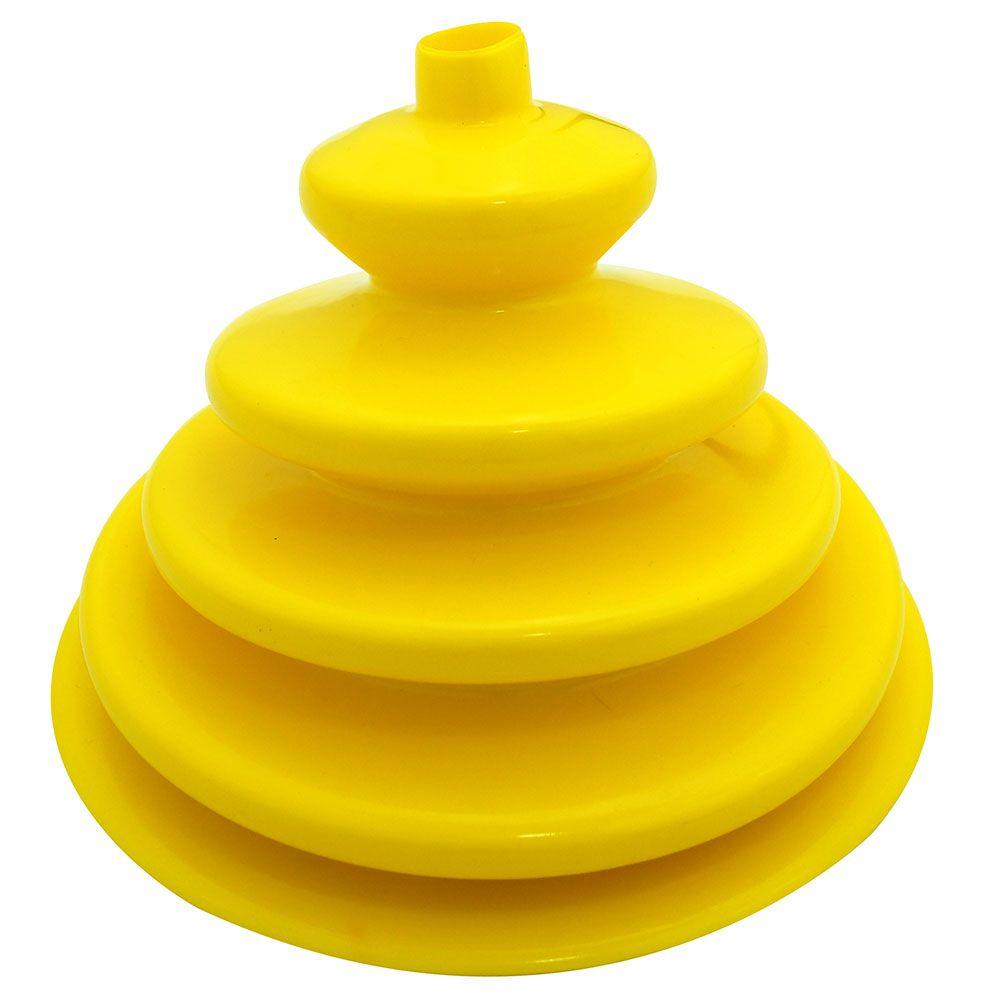 Coifa guarda pó adaptação em silicone amarelo da alavanca de cambio Clark para GM C-10 e Toyota Bandeirante  - Bunnitu Peças e Acessórios
