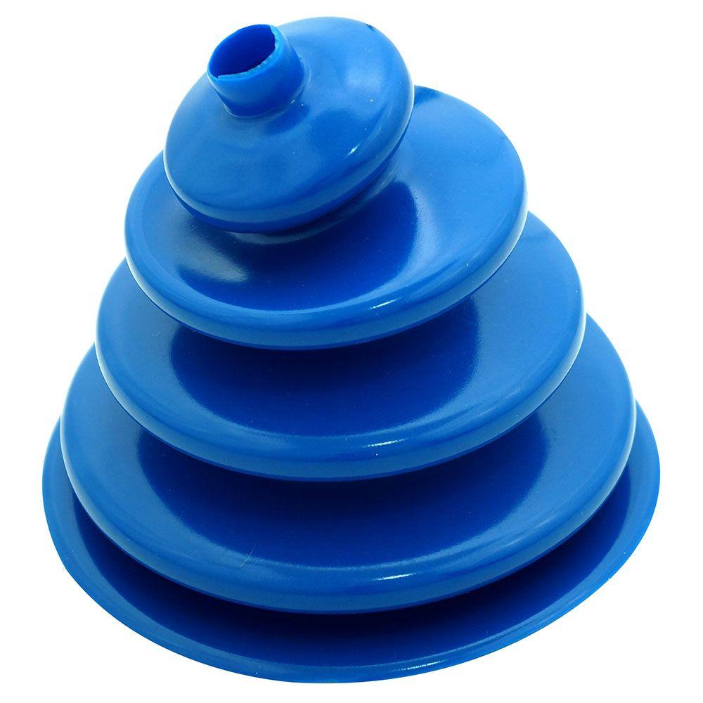 Coifa guarda pó adaptação em silicone azul da alavanca de cambio Clark para GM C-10 e Toyota Bandeirante  - Bunnitu Peças e Acessórios