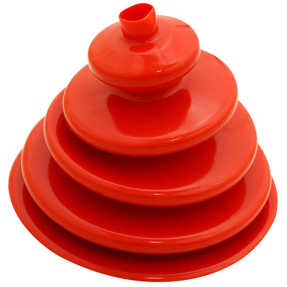 Coifa guarda pó adaptação em silicone vermelho da alavanca de cambio Clark para GM C-10 e Toyota Bandeirante  - Bunnitu Peças e Acessórios