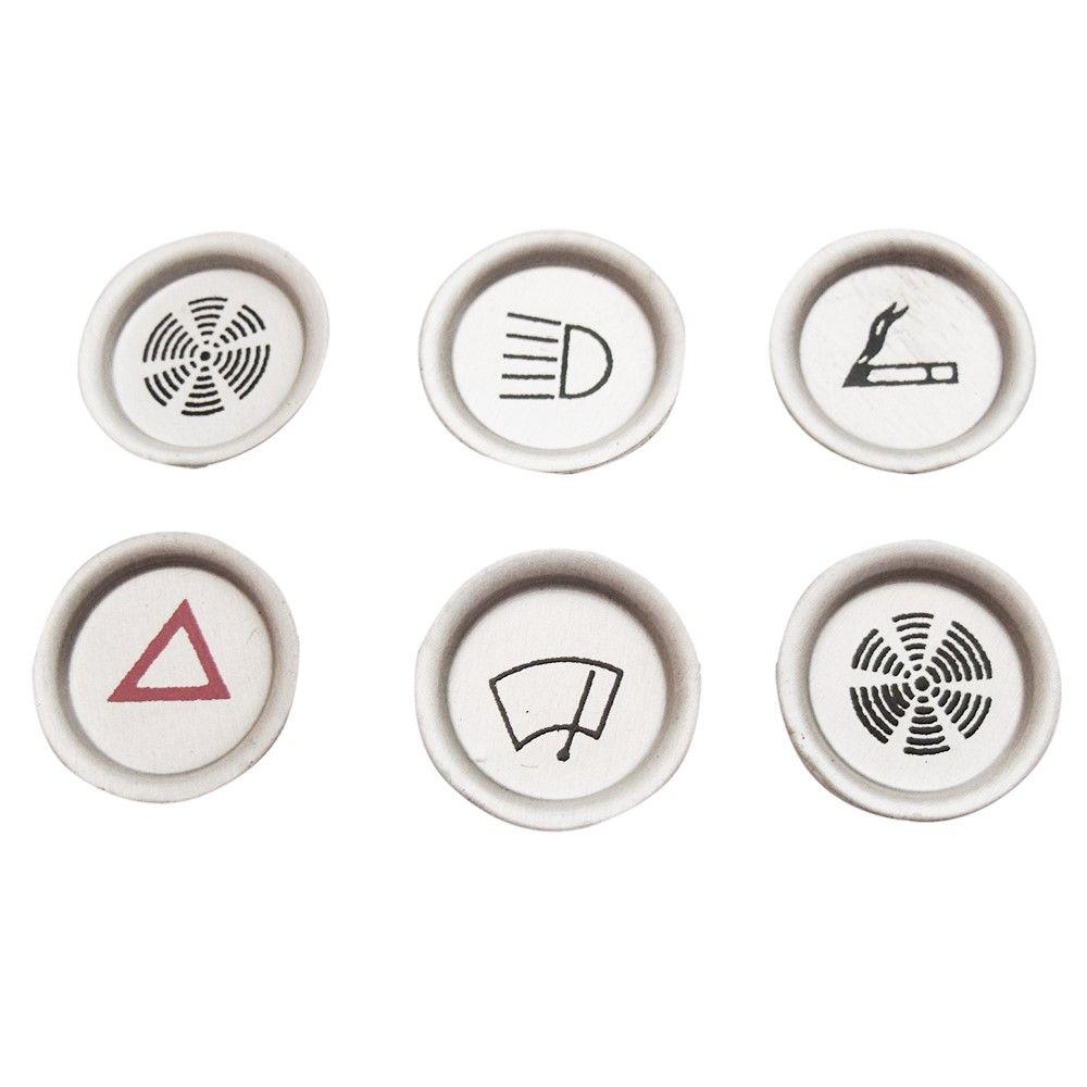 f98517590 Conjunto com 6 chapas dos botões do painel para Puma 1973 a 1977 - Bunnitu  Peças ...