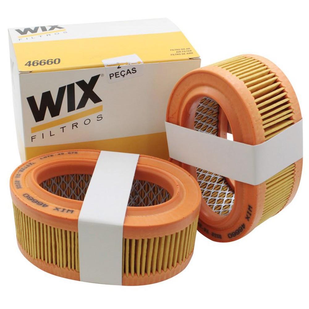 Conjunto de filtro de ar Wix VW Fusca e Brasília 1300 e 1600 com dupla carburação  - Bunnitu Peças e Acessórios