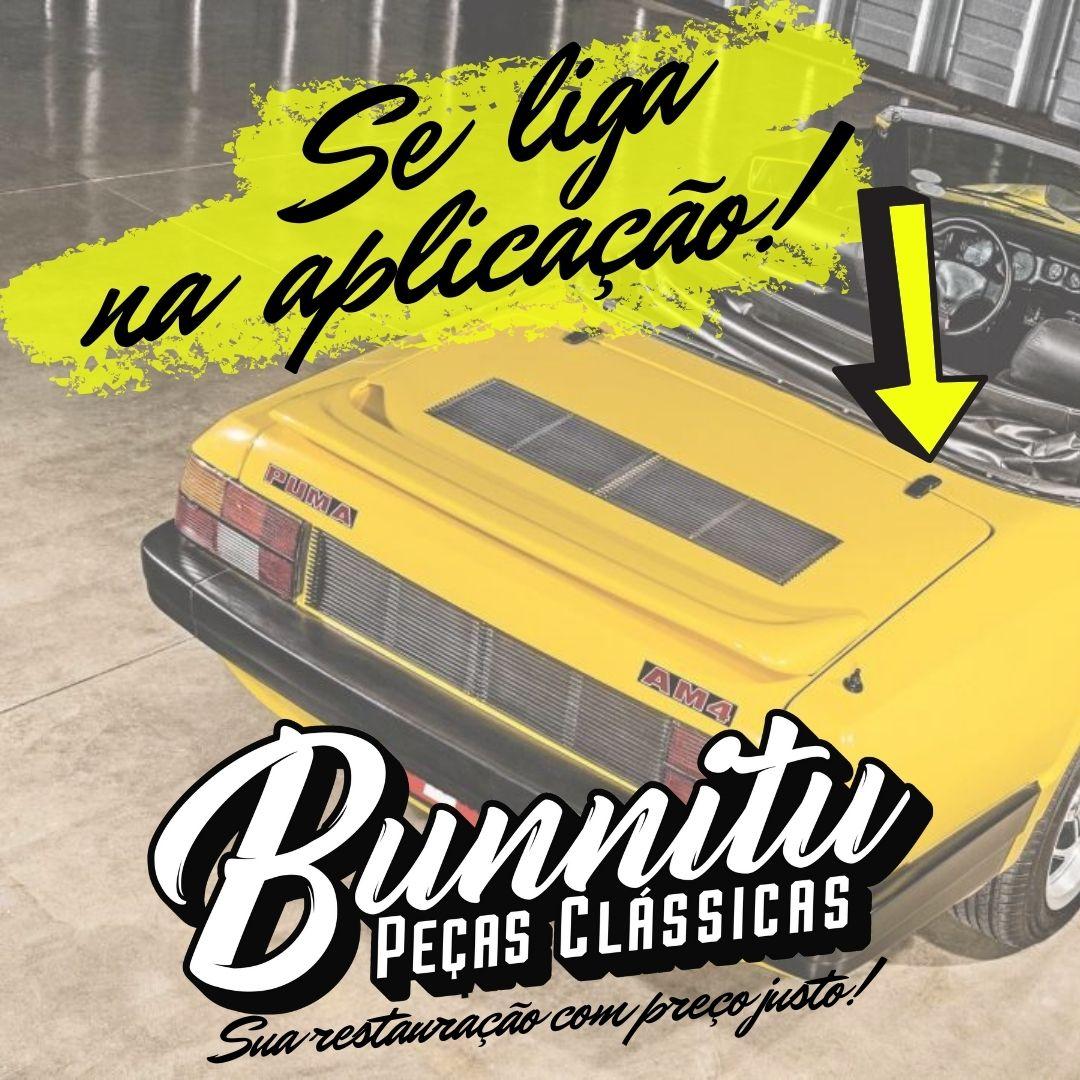 Dobradiça externa cromada da tampa do motor para Puma  - Bunnitu Peças e Acessórios