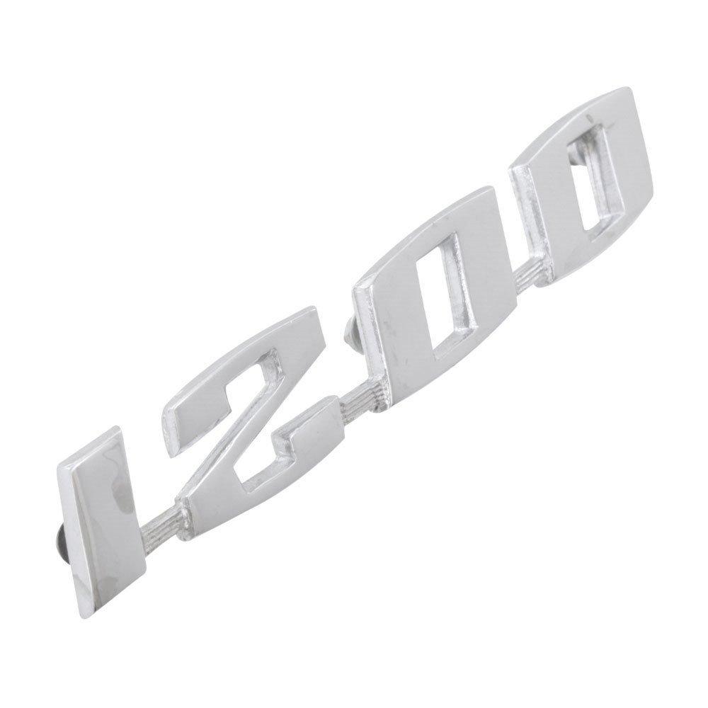 Emblema 1200 da tampa do motor para VW Fusca  - Bunnitu Peças e Acessórios