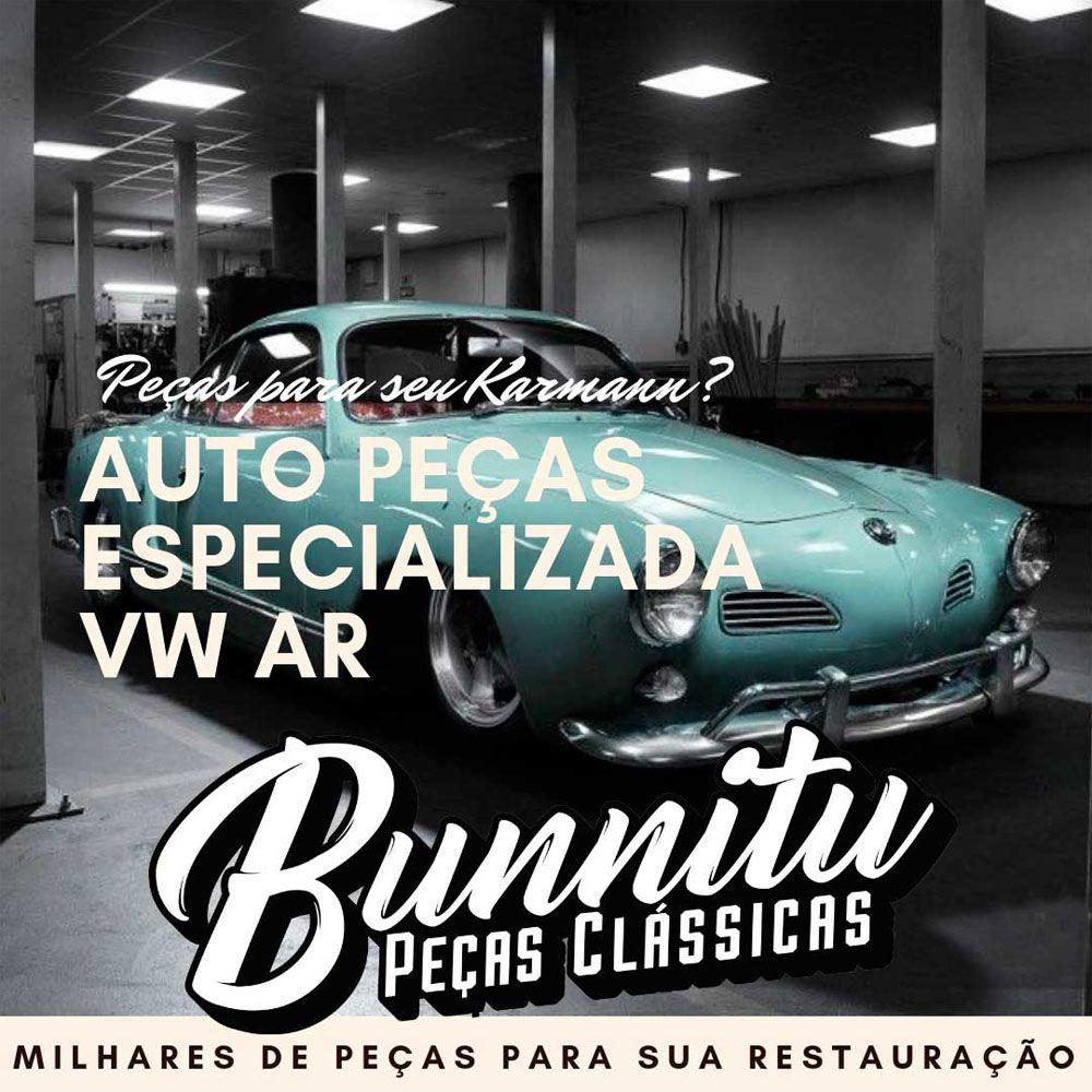 Emblema assinatura da tampa do motor para VW Karmann Ghia  - Bunnitu Peças e Acessórios