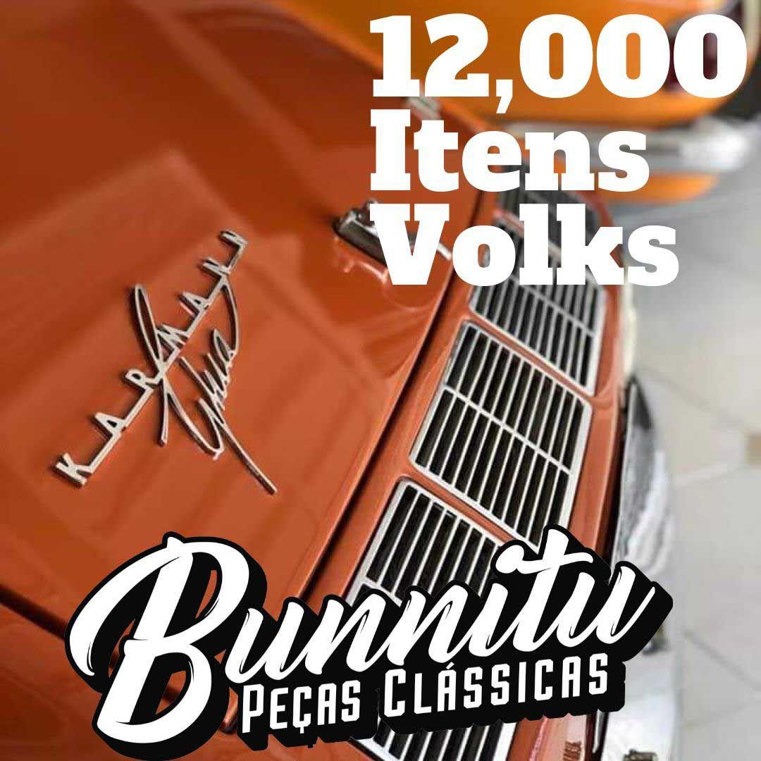 Emblema assinatura da tampa traseira do motor VW Karmann Ghia e TC  - Bunnitu Peças e Acessórios