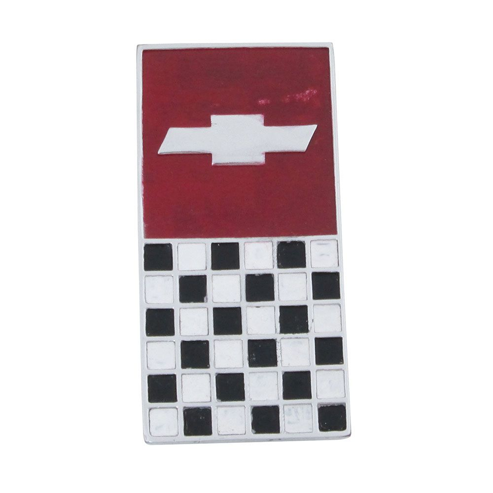 Emblema bandeira Chevrolet do console para GM Opala SS  - Bunnitu Peças e Acessórios