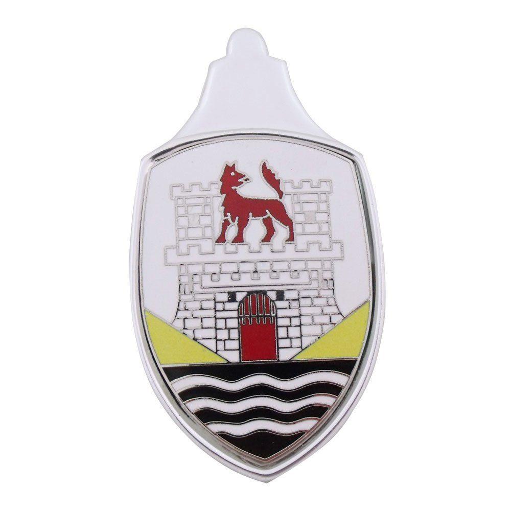 Emblema Brasão do capo Mod. Wolfsburg 2 para VW Fusca até 1966  - Bunnitu Peças e Acessórios