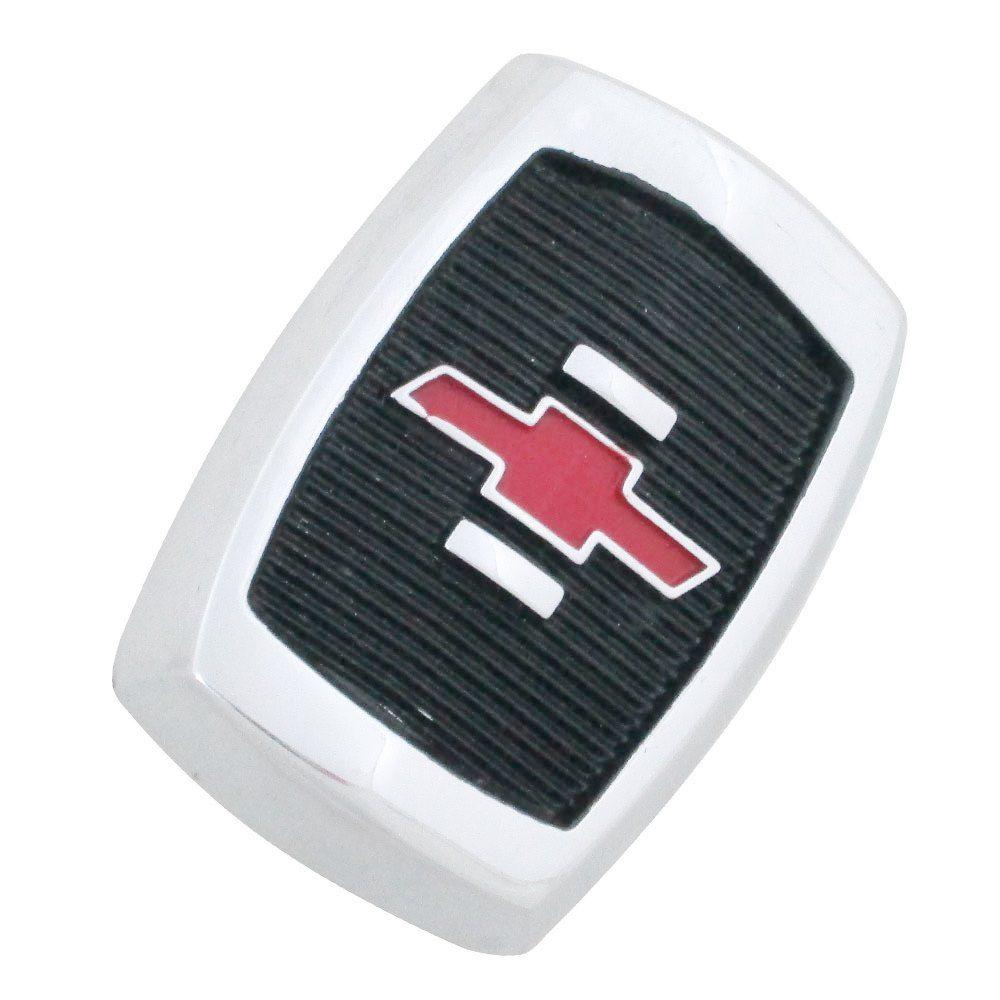 Emblema brasão do capô modelo fundo preto logo vermelho para GM Chevrolet Opala 1969 à 1970  - Bunnitu Peças e Acessórios