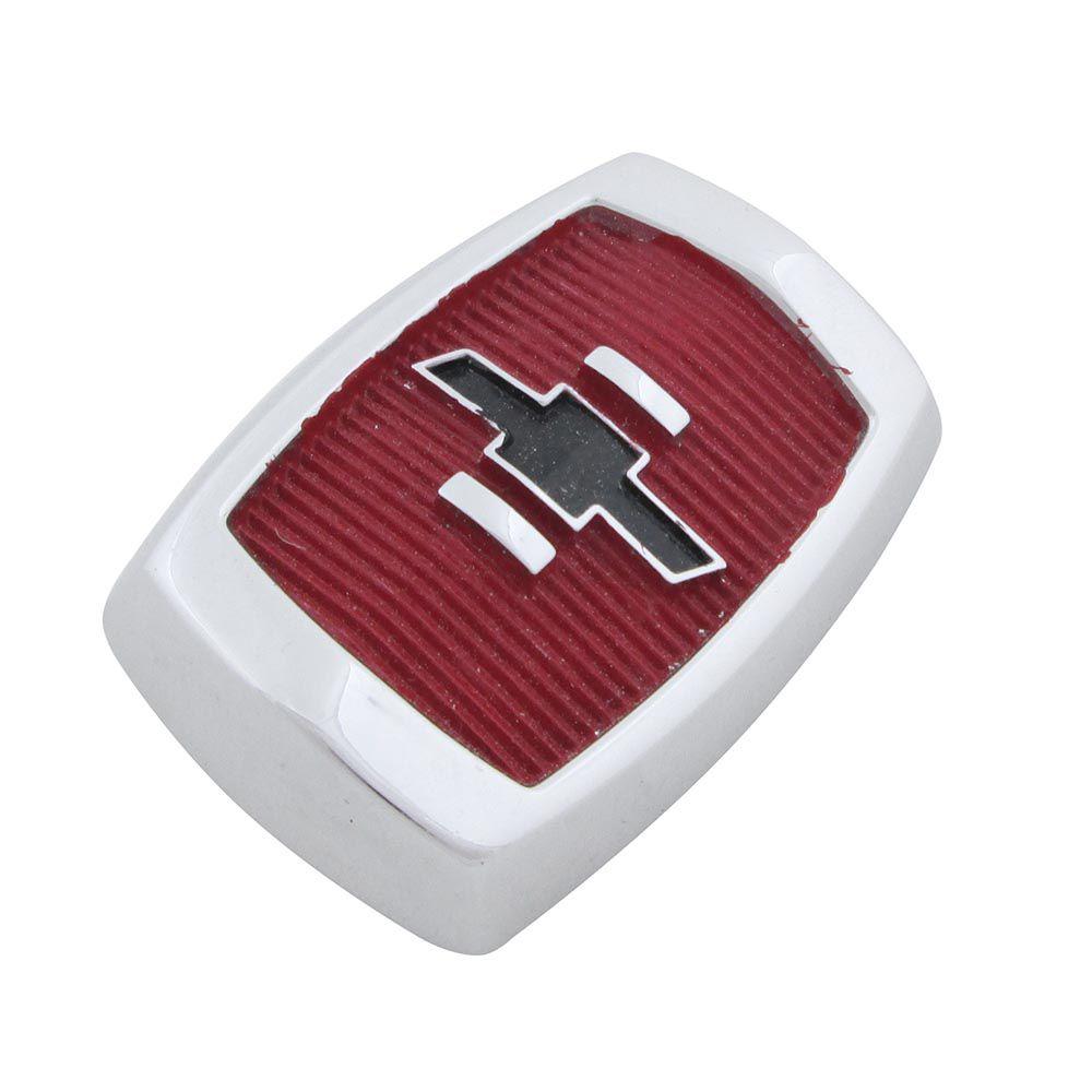 Emblema brasão do capô modelo fundo vermelho para GM Chevrolet Opala 1969 à 1970  - Bunnitu Peças e Acessórios