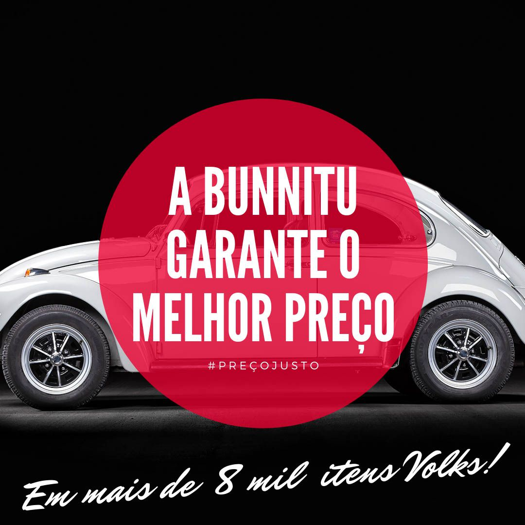 Emblema Brasão Superior VW Do Capo Dianteiro VW Fusca  - Bunnitu Peças e Acessórios