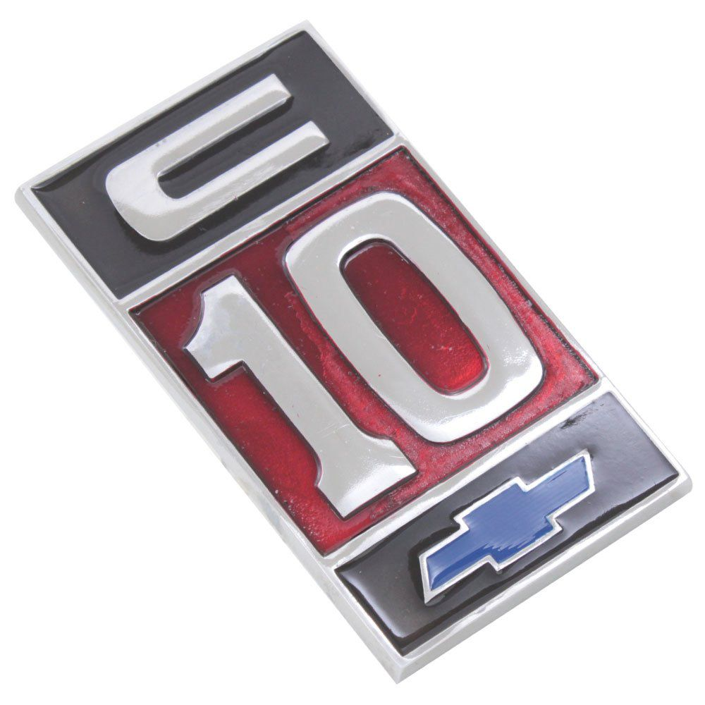 Emblema C-10 para GM Chevrolet  - Bunnitu Peças e Acessórios
