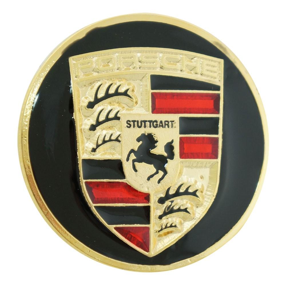 Emblema calota centro de roda para Porsche  - Bunnitu Peças e Acessórios