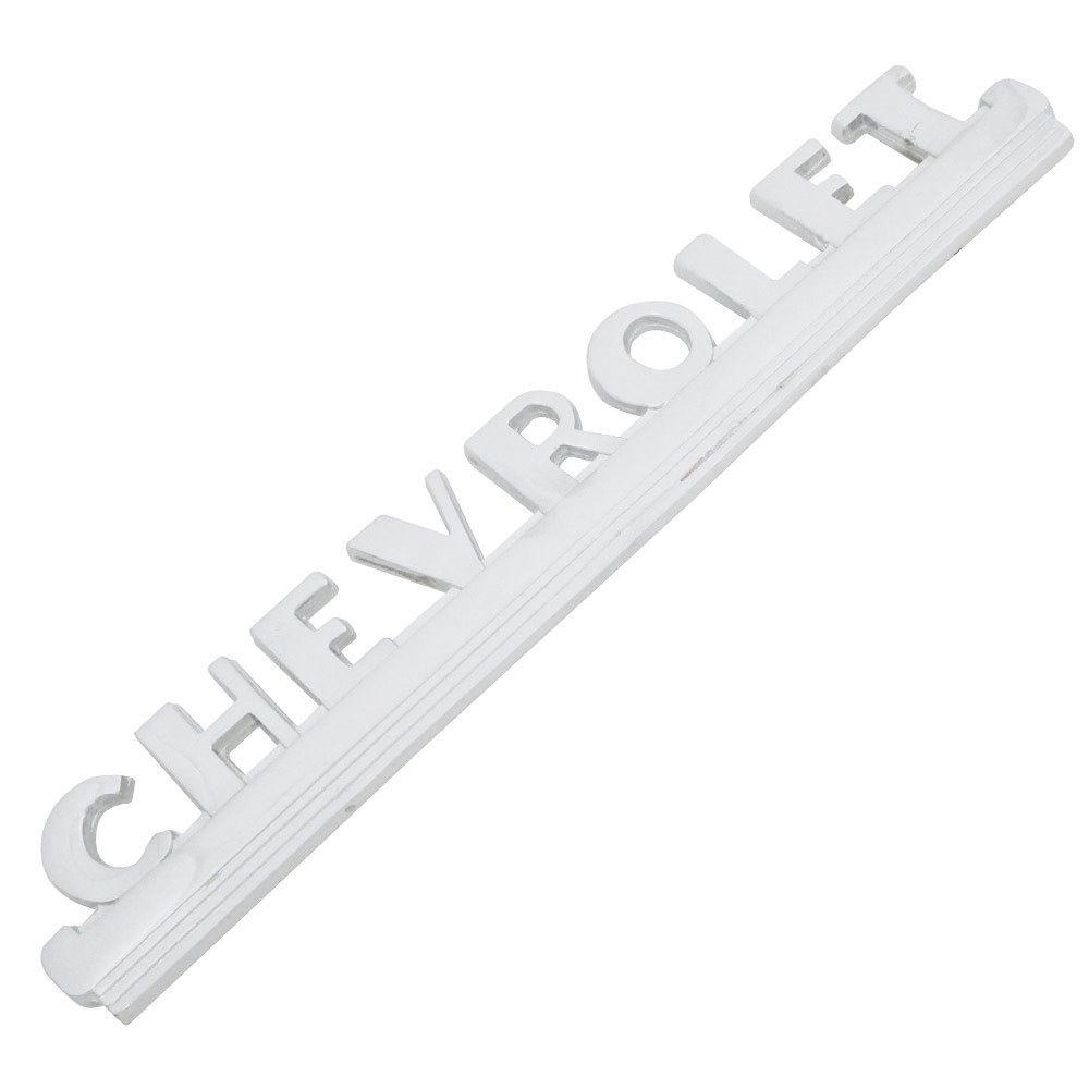 Emblema Lateral Capo Chevrolet GM Pick-Up Boca De Sapo 1948 à 1953  - Bunnitu Peças e Acessórios