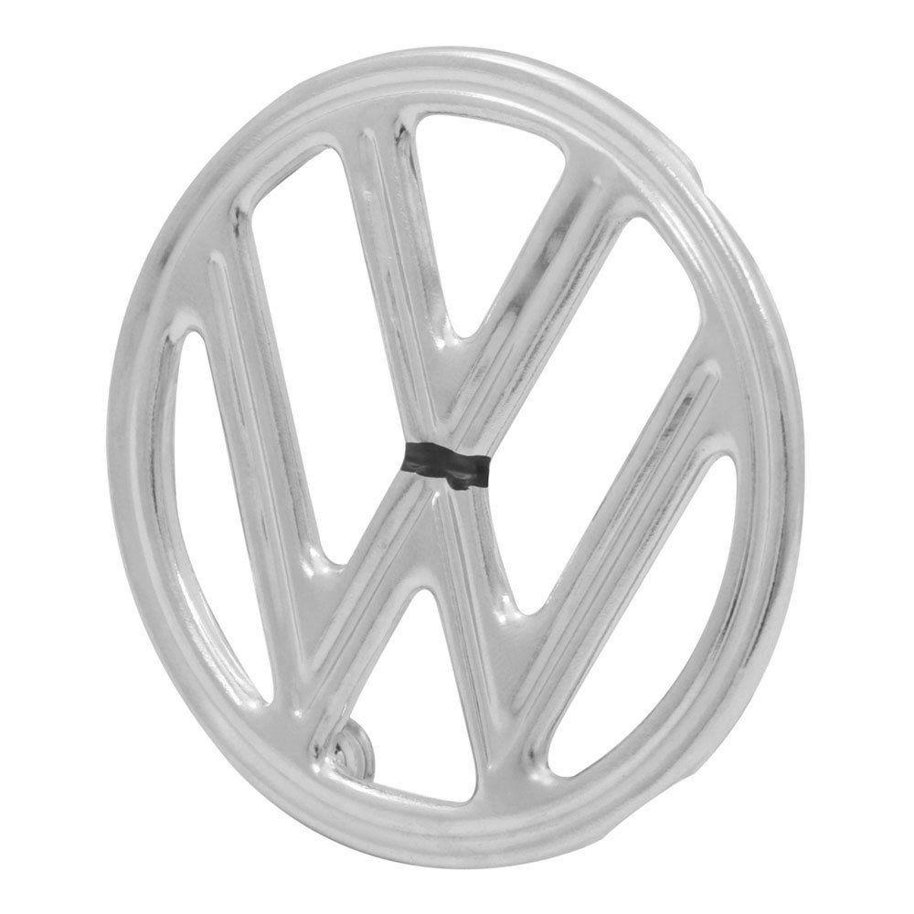Emblema Cromado Brasão Superior VW Capo Dianteiro VW Fusca 1967 até 1976  - Bunnitu Peças e Acessórios