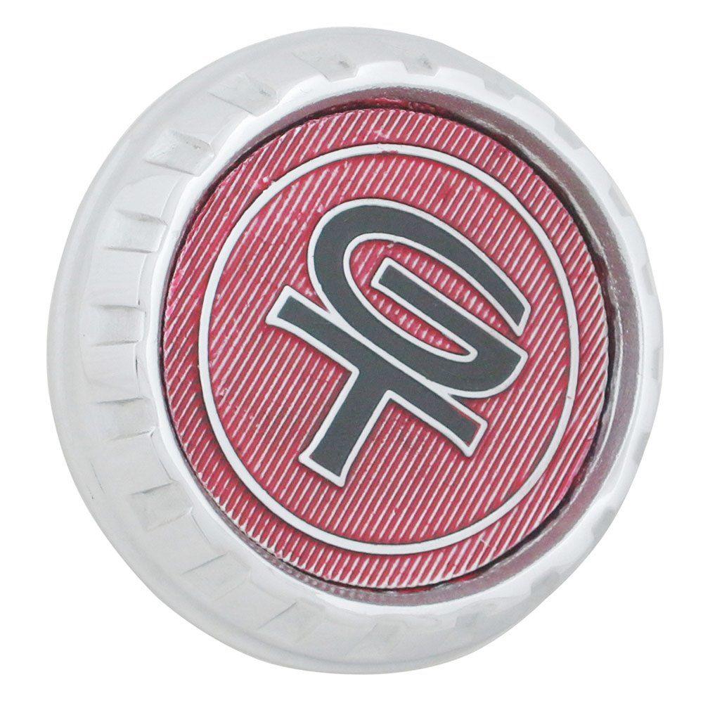 Emblema cromado da grade dianteira do Ford Maverick GT  - Bunnitu Peças e Acessórios