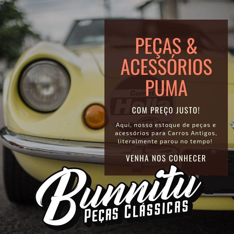 Emblema da tampa do motor Puma GT 1600  - Bunnitu Peças e Acessórios