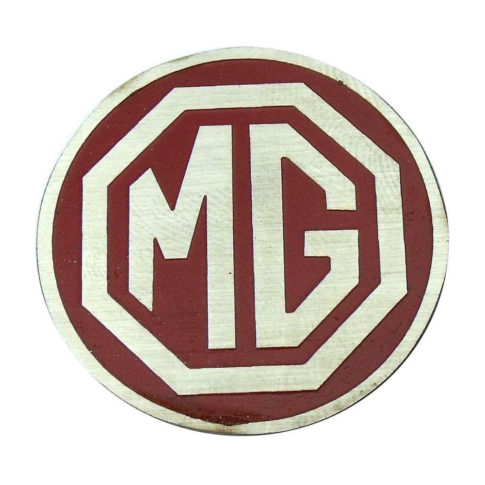 Emblema do botão de buzina MG fundo vermelho  - Bunnitu Peças e Acessórios