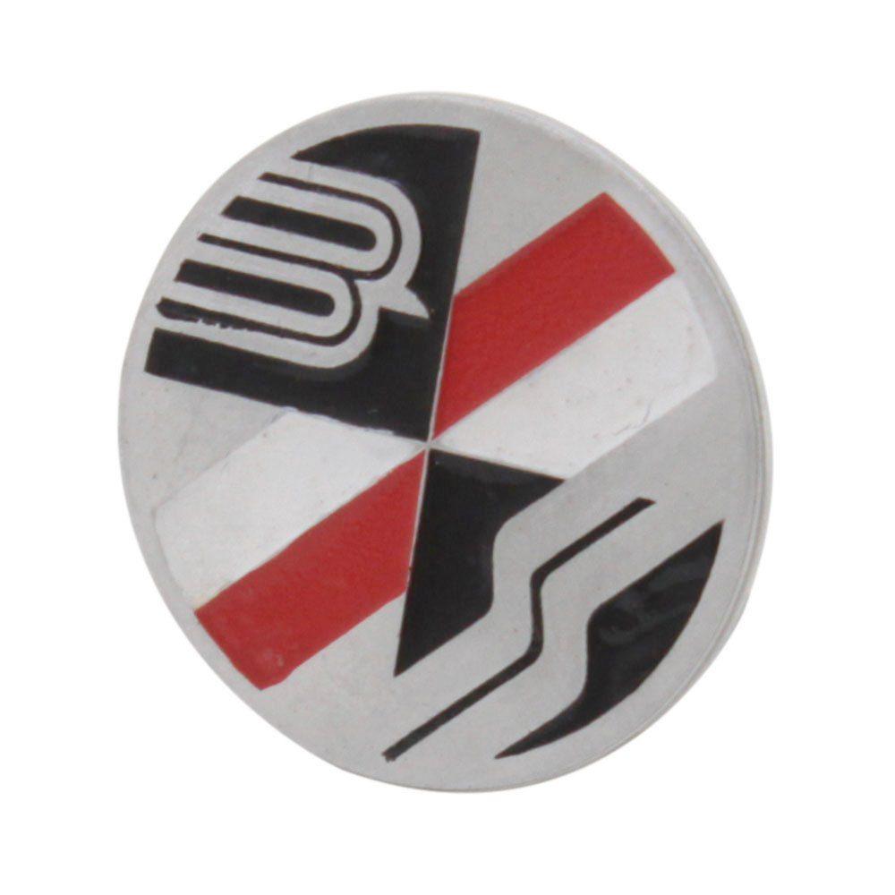 Emblema do botão de buzina para Bianco com fundo Prata  - Bunnitu Peças e Acessórios