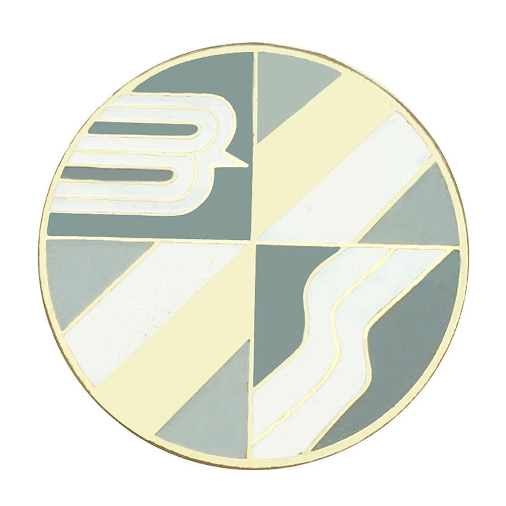 Emblema do botão de buzina para Bianco fundo dourado  - Bunnitu Peças e Acessórios