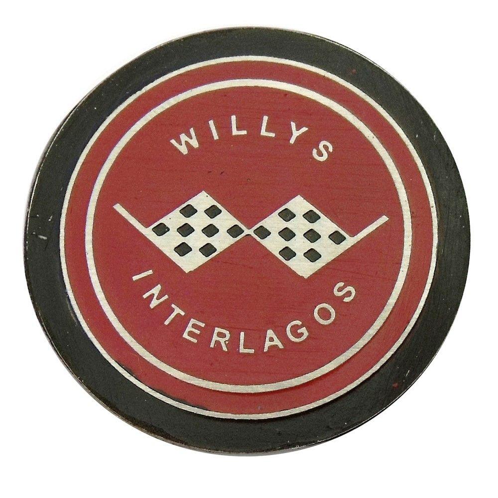 Emblema do botão de buzina para Willys Interlagos  - Bunnitu Peças e Acessórios