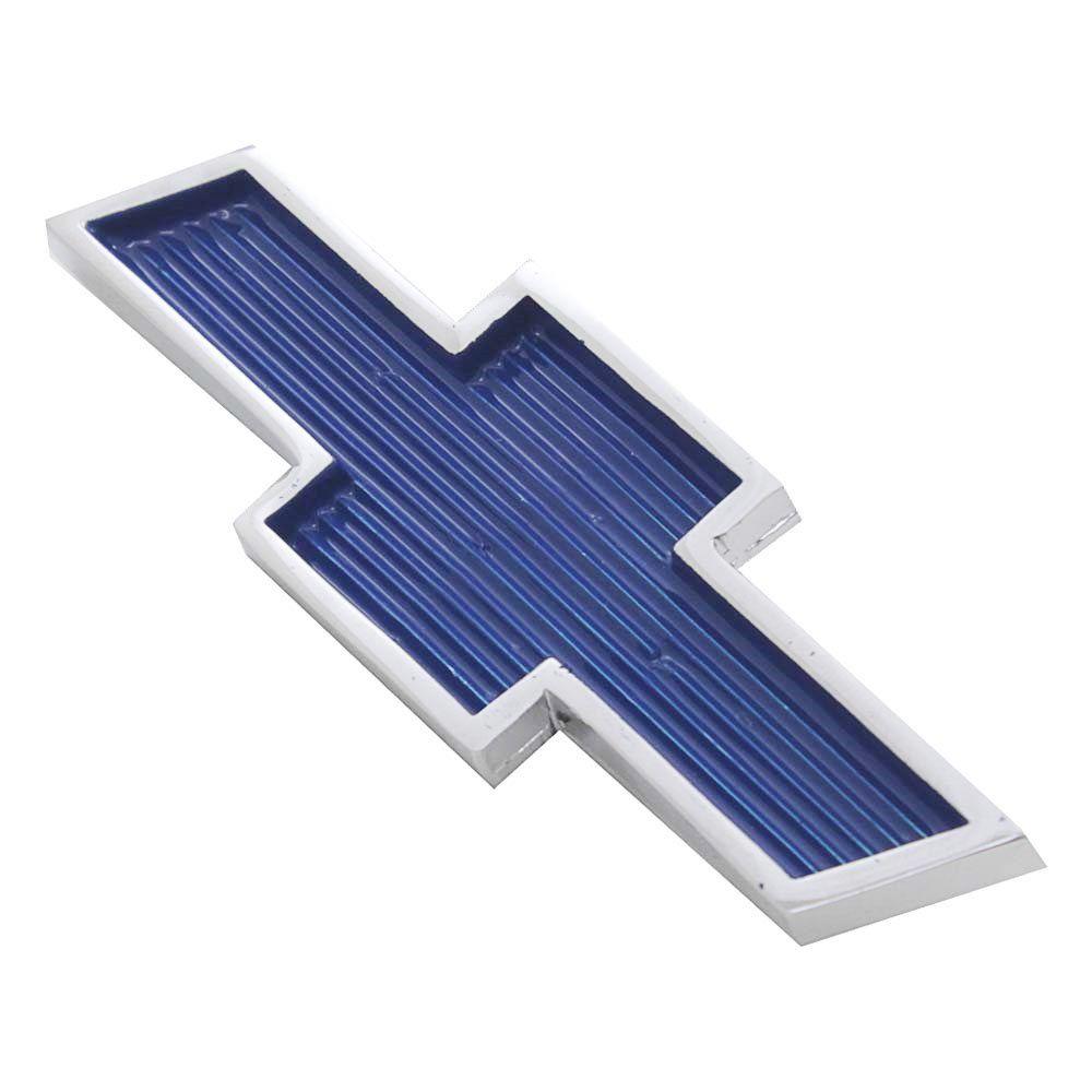 Emblema Gravata Azul Grade Dianteira GM Opala 1973 à 1977  - Bunnitu Peças e Acessórios