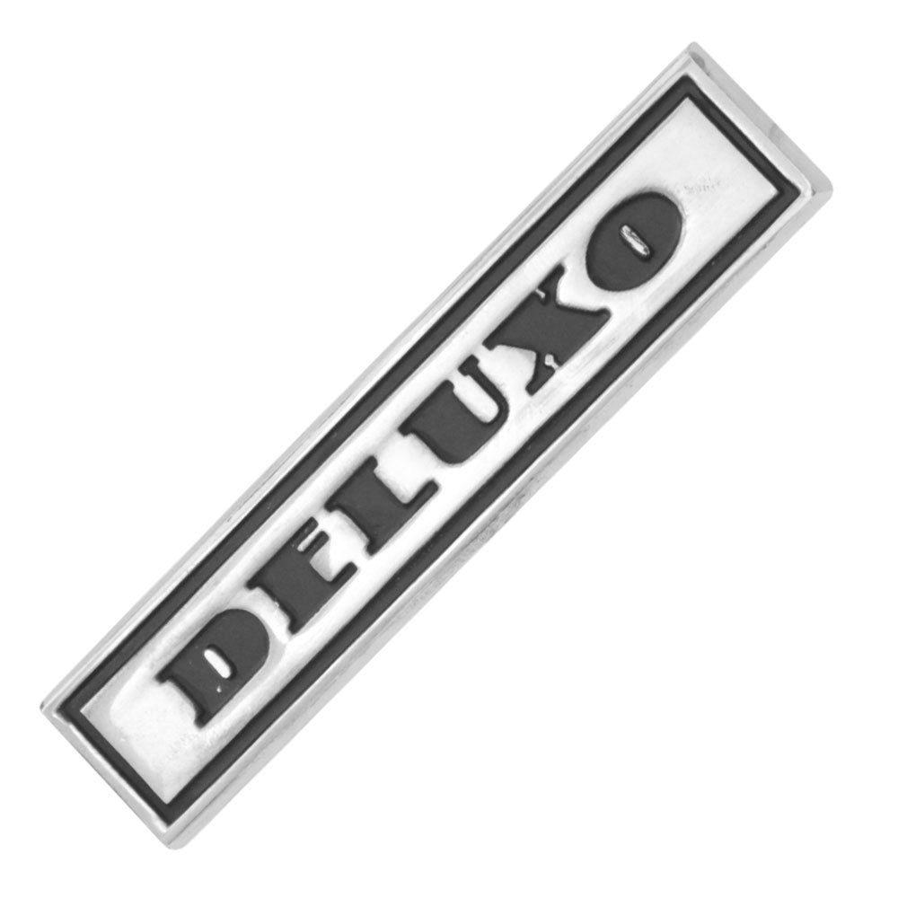 Emblema lateral Deluxo para GM Chevrolet Veraneio e Caravan  - Bunnitu Peças e Acessórios