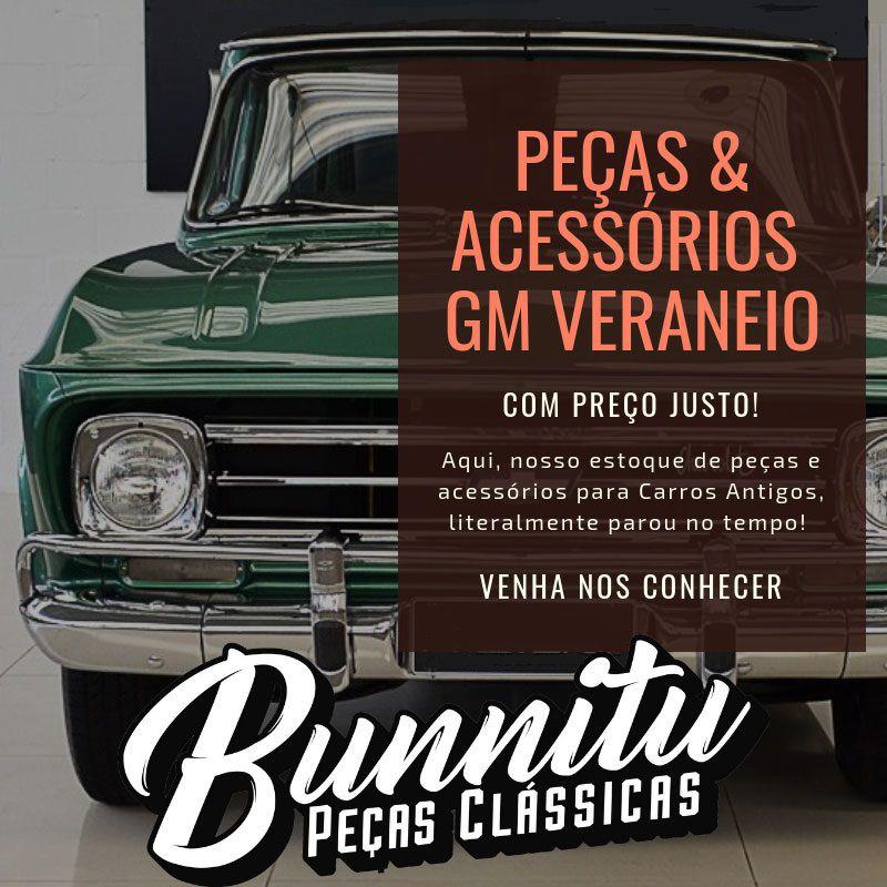 Emblema lateral Deluxo GM Chevrolet Veraneio e Caravan  - Bunnitu Peças e Acessórios