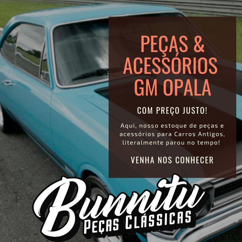 Emblema lateral modelo de luxo GM Chevrolet Opala 1973 à 1978  - Bunnitu Peças e Acessórios