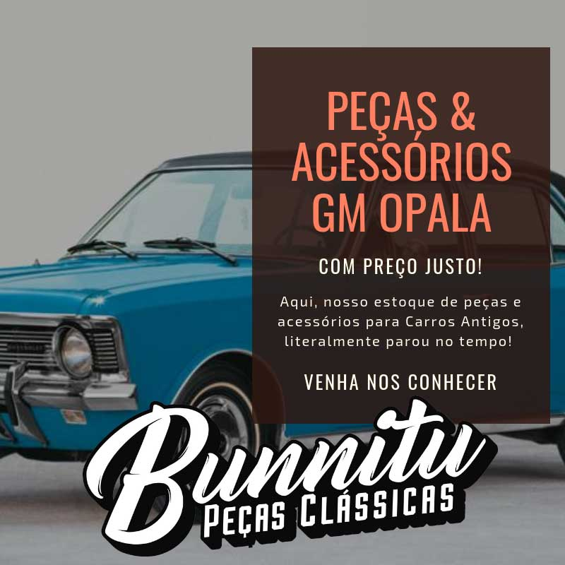 Emblema lateral modelo Especial GM Chevrolet Opala  - Bunnitu Peças e Acessórios