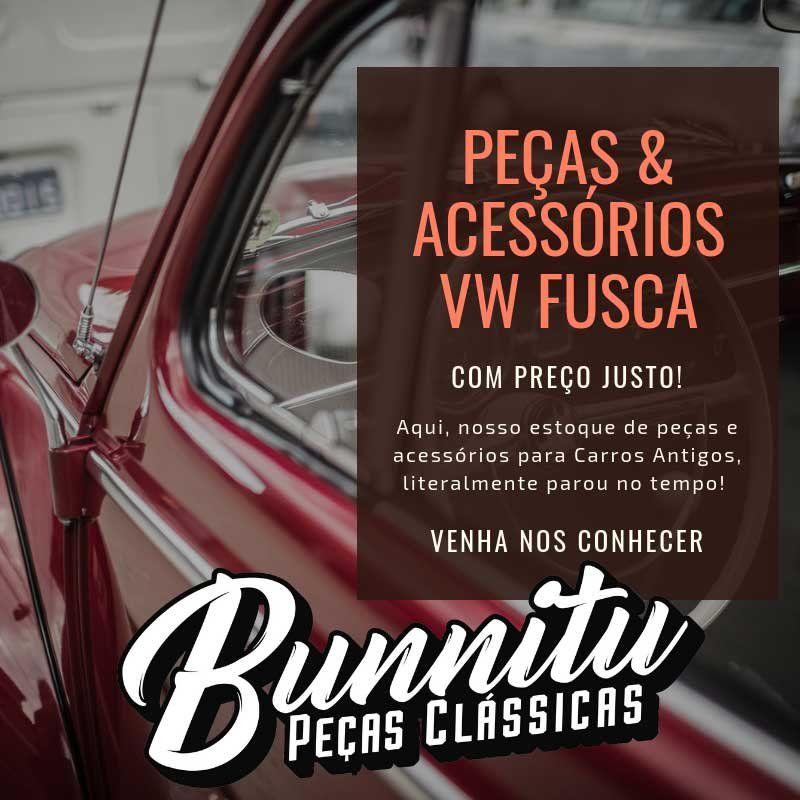 Emblema letra L da tampa do motor para VW Fusca 1300 L  - Bunnitu Peças e Acessórios