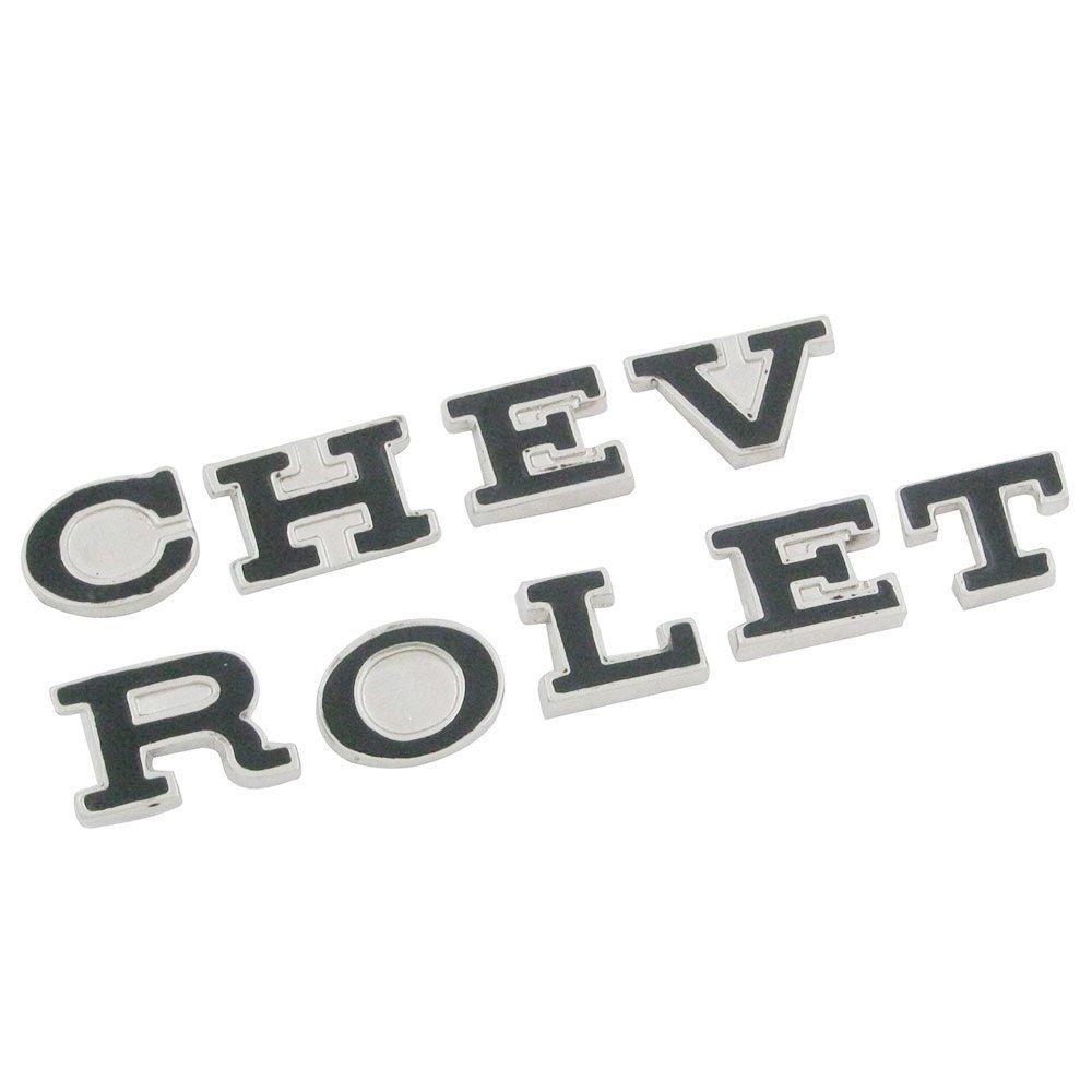 Emblema letras Chevrolet para GM Opala Comodoro  - Bunnitu Peças e Acessórios