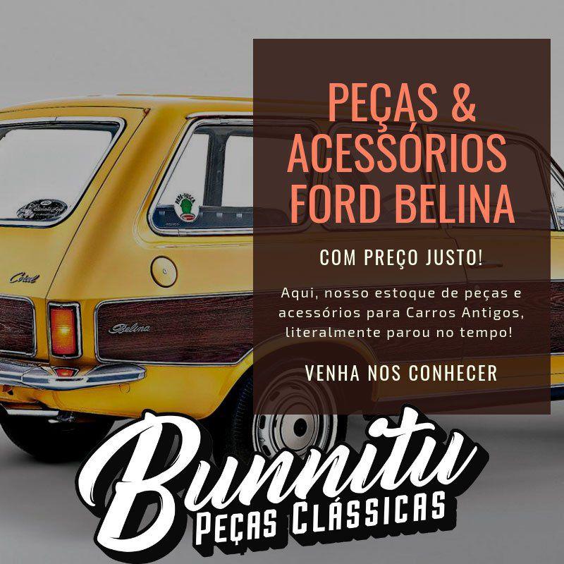 Emblema manuscrito para Ford Belina 1  - Bunnitu Peças e Acessórios