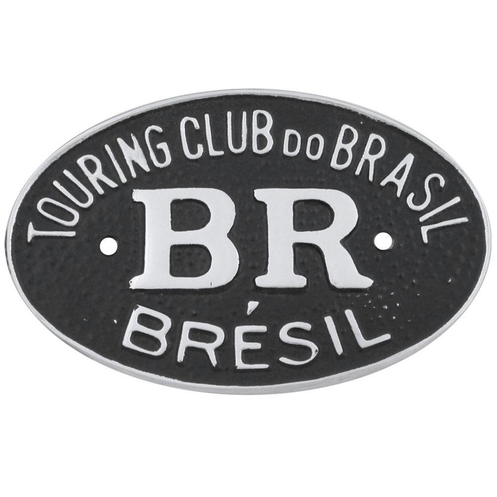Emblema plaqueta brasão BR Touring Brésil  - Bunnitu Peças e Acessórios