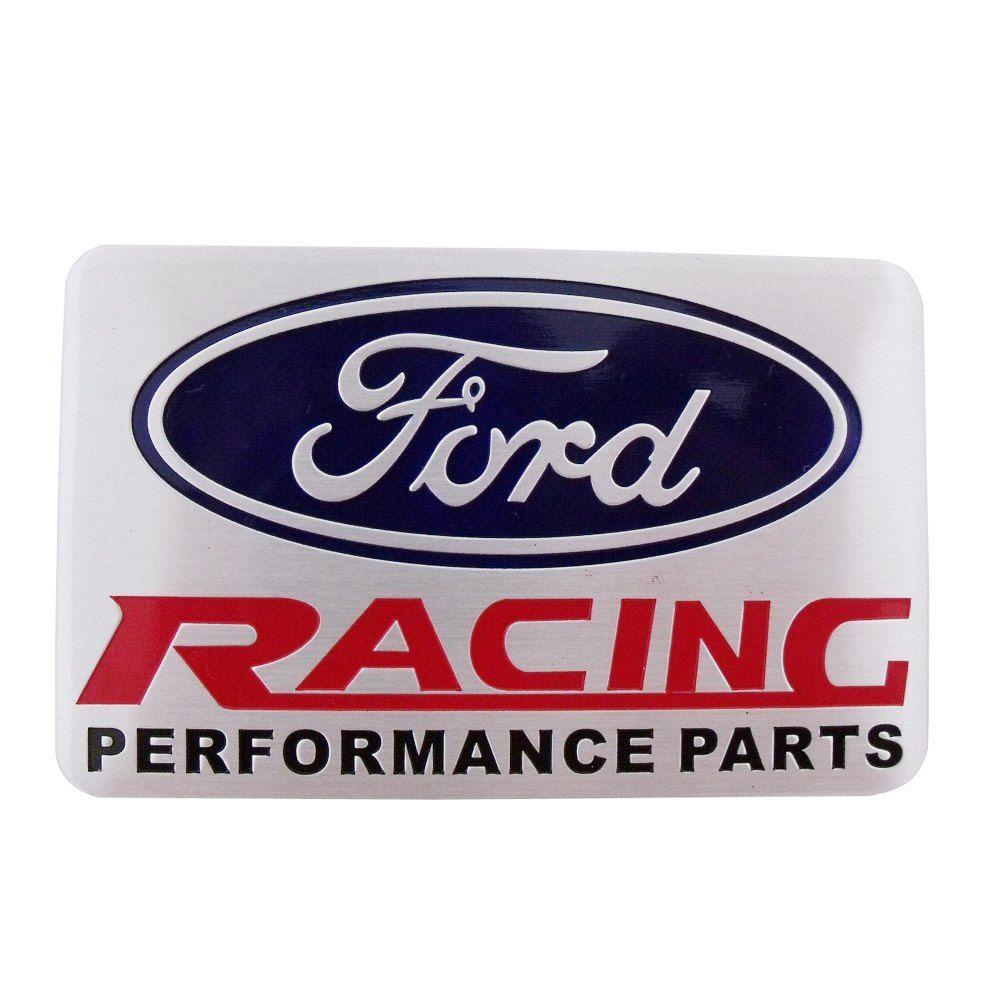 Emblema plaqueta lateral Ford Racing Performace Parts  - Bunnitu Peças e Acessórios