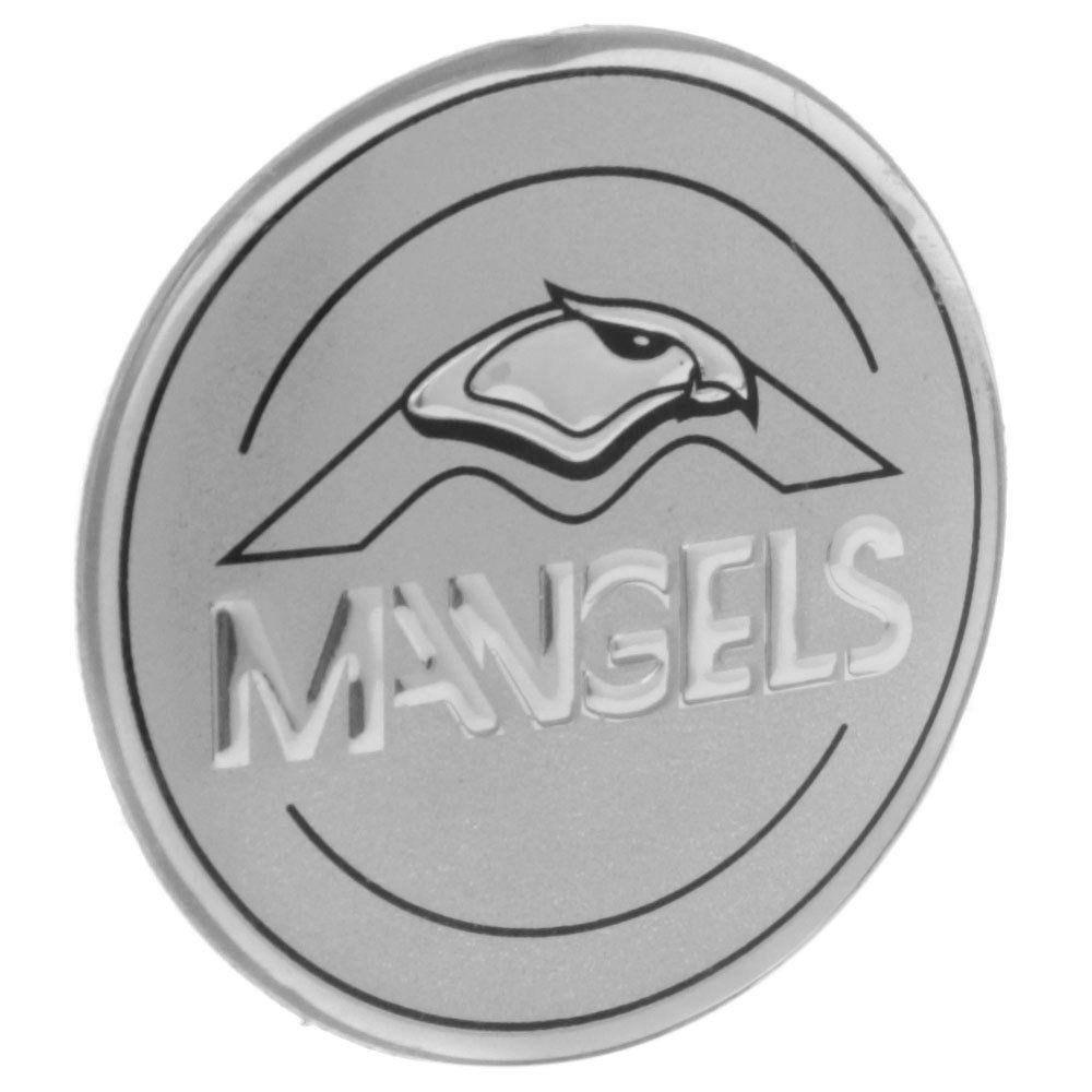 Emblema resinado modelo Mangels com 55 mm para calotas  - Bunnitu Peças e Acessórios