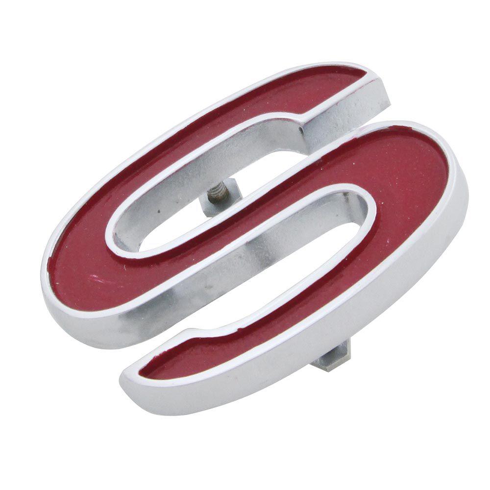 Emblema S da grade e painel traseiro para GM Chevrolet Opala SS  - Bunnitu Peças e Acessórios