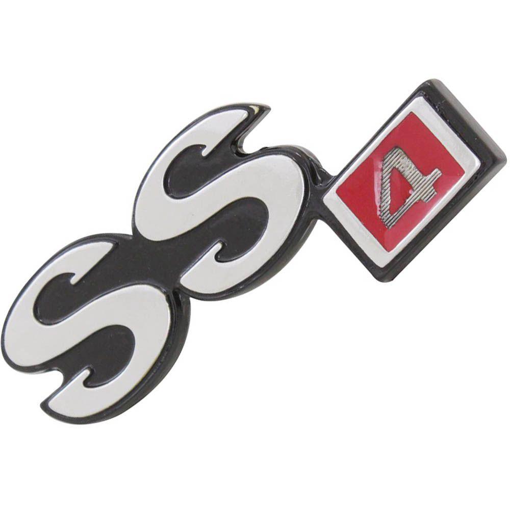 Emblema SS4 Capô Dianteiro GM Opala SS 4 Cilindros 1973 à 1974  - Bunnitu Peças e Acessórios