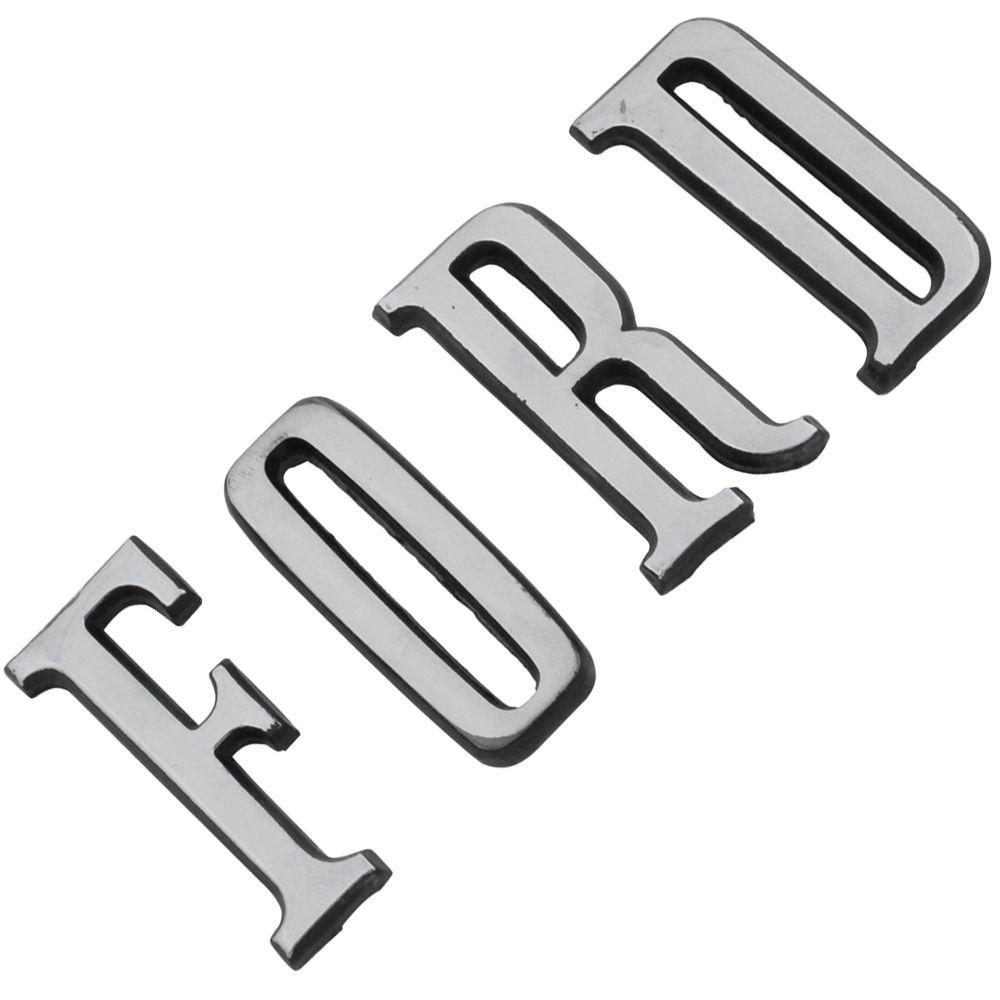 Emblema traseiro modelo letras Ford Landau e Maverick  - Bunnitu Peças e Acessórios