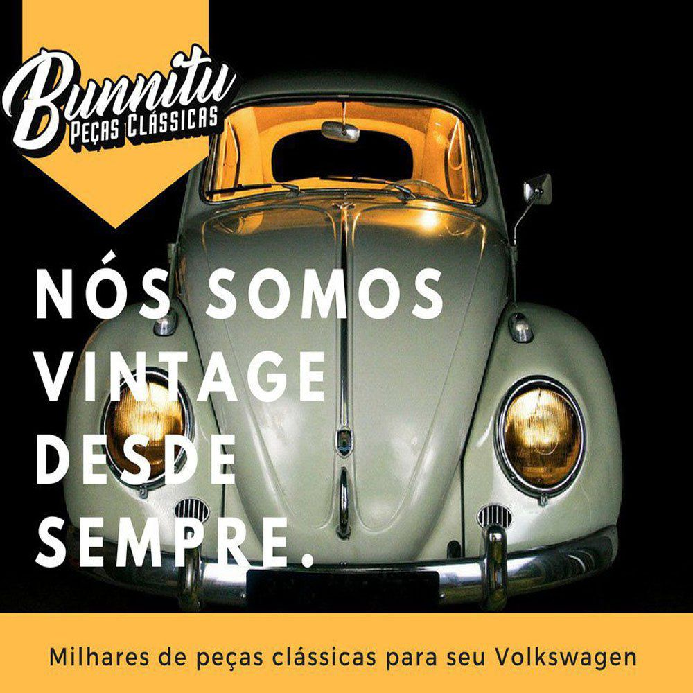 Escapamento modelo original especial para VW Fusca 1200 e Karmann Ghia + Bengalas  - Bunnitu Peças e Acessórios