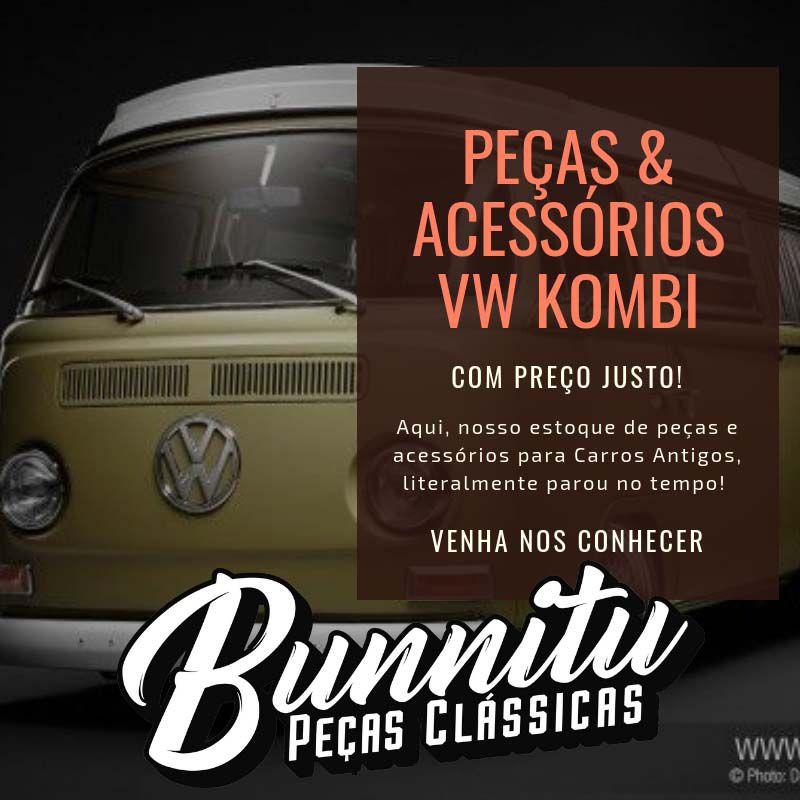 Espelho retrovisor cromado para VW Kombi Clipper  - Bunnitu Peças e Acessórios