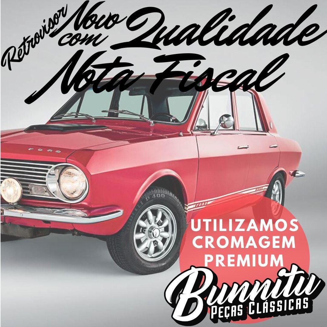 Espelho retrovisor para Ford Corcel modelo GT 1969 à 1972  - Bunnitu Peças e Acessórios