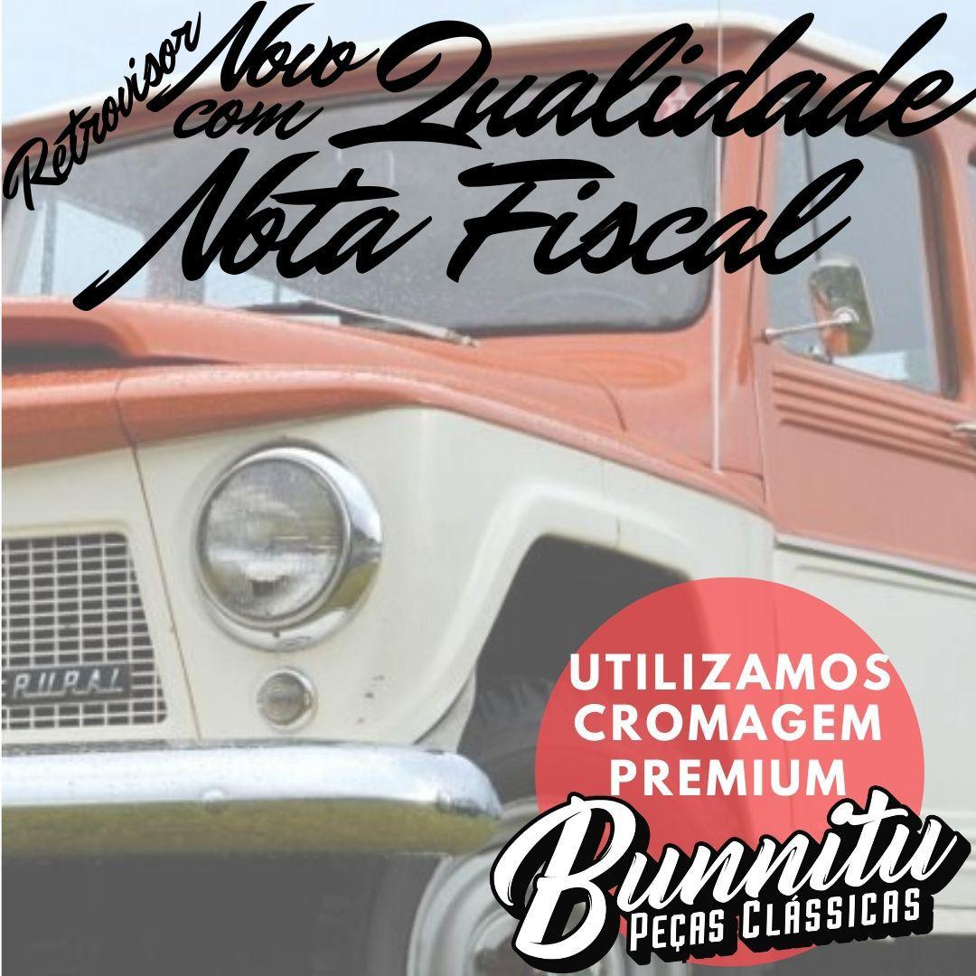 Espelho retrovisor para Rural, Pick Up Willys e F75  - Bunnitu Peças e Acessórios