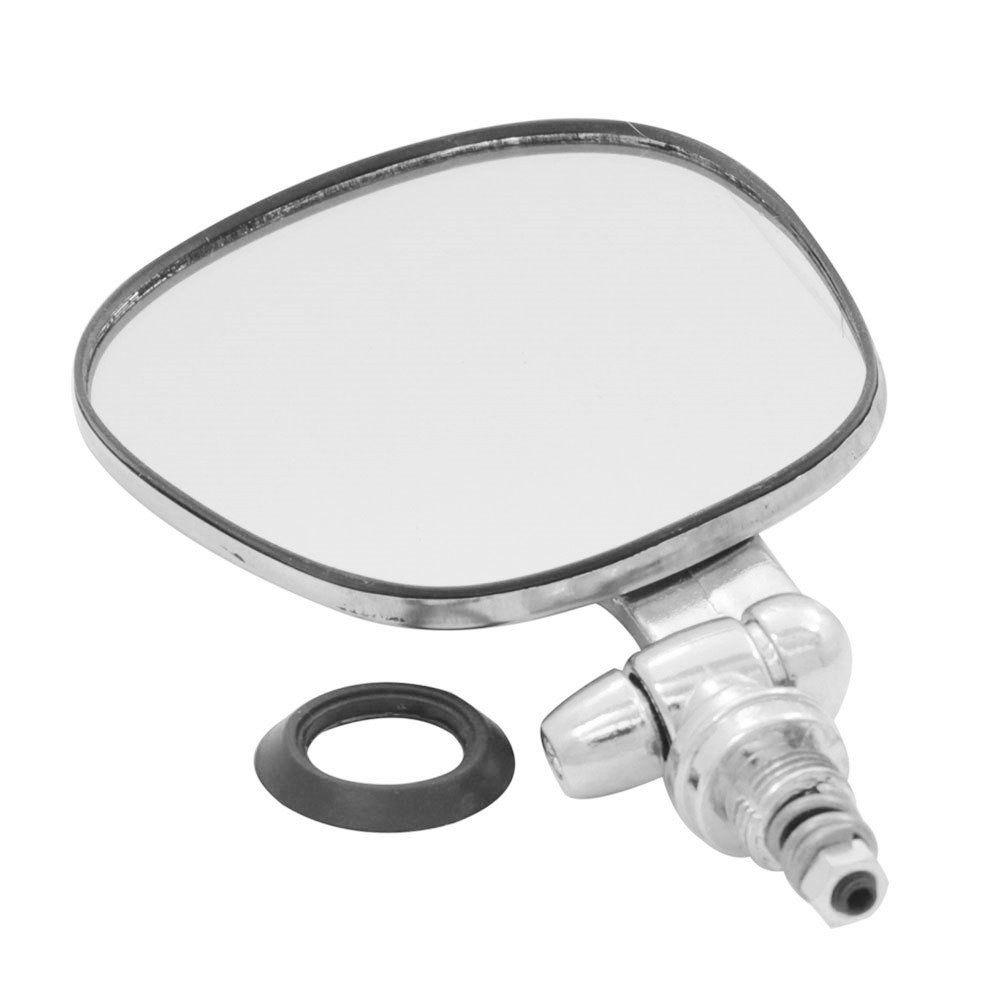 Espelho Retrovisor Raquete Inox VW Fusca Variant Brasília TL Lado Motorista  - Bunnitu Peças e Acessórios