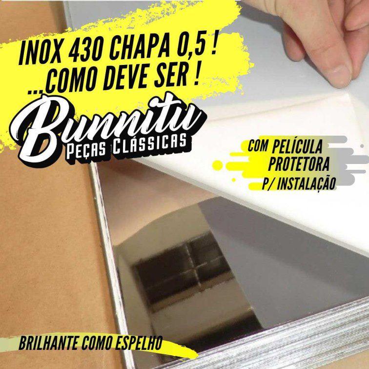 Estribo Interno Soleira Porta Inox para GM Chevette  - Bunnitu Peças e Acessórios