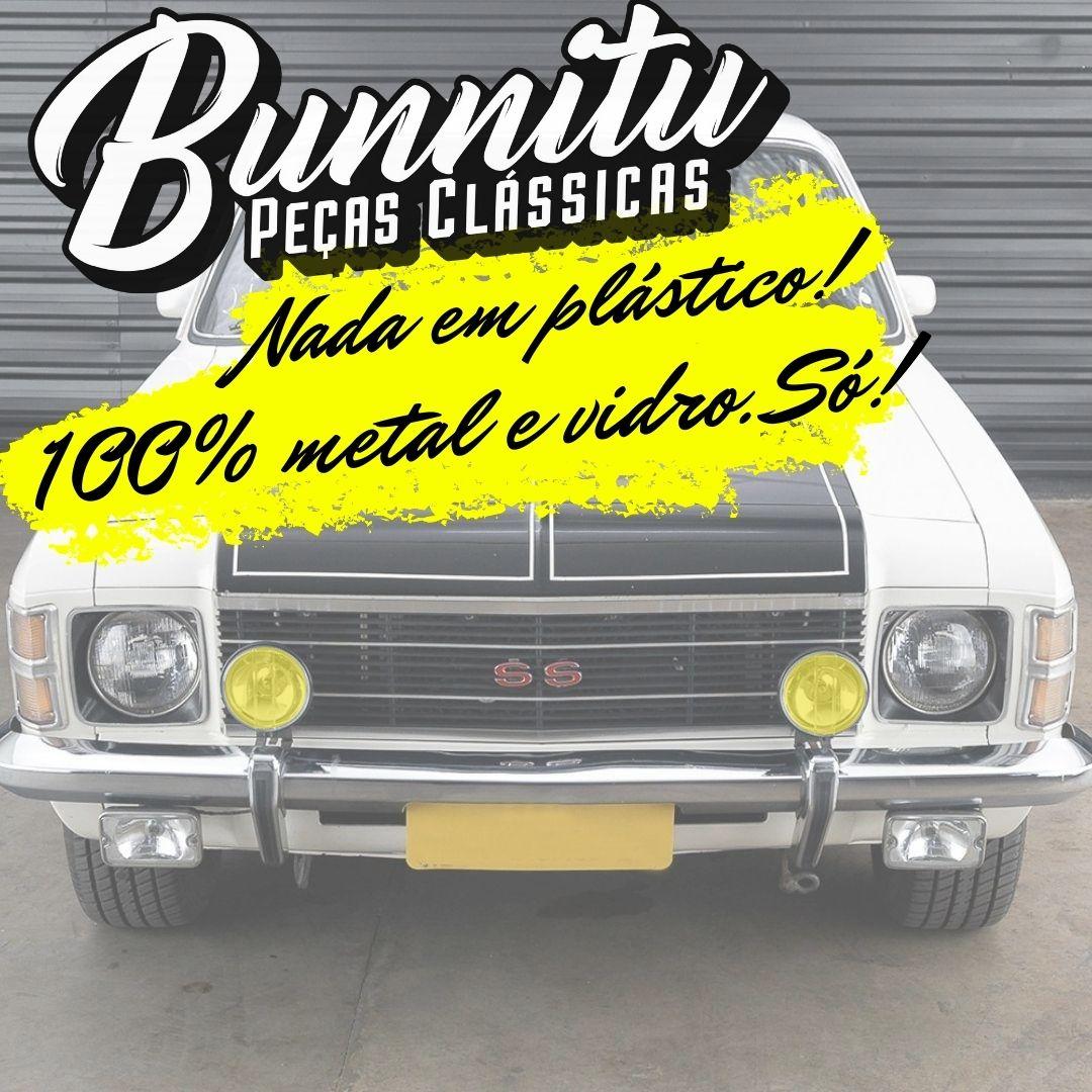 Farol Auxiliar Milha Cromado Lente Amarela Lisa VW Gol GT GTS GTI Fusca  - Bunnitu Peças e Acessórios
